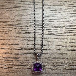 Petite Albion Pendant Necklace Amethyst/Diamonds